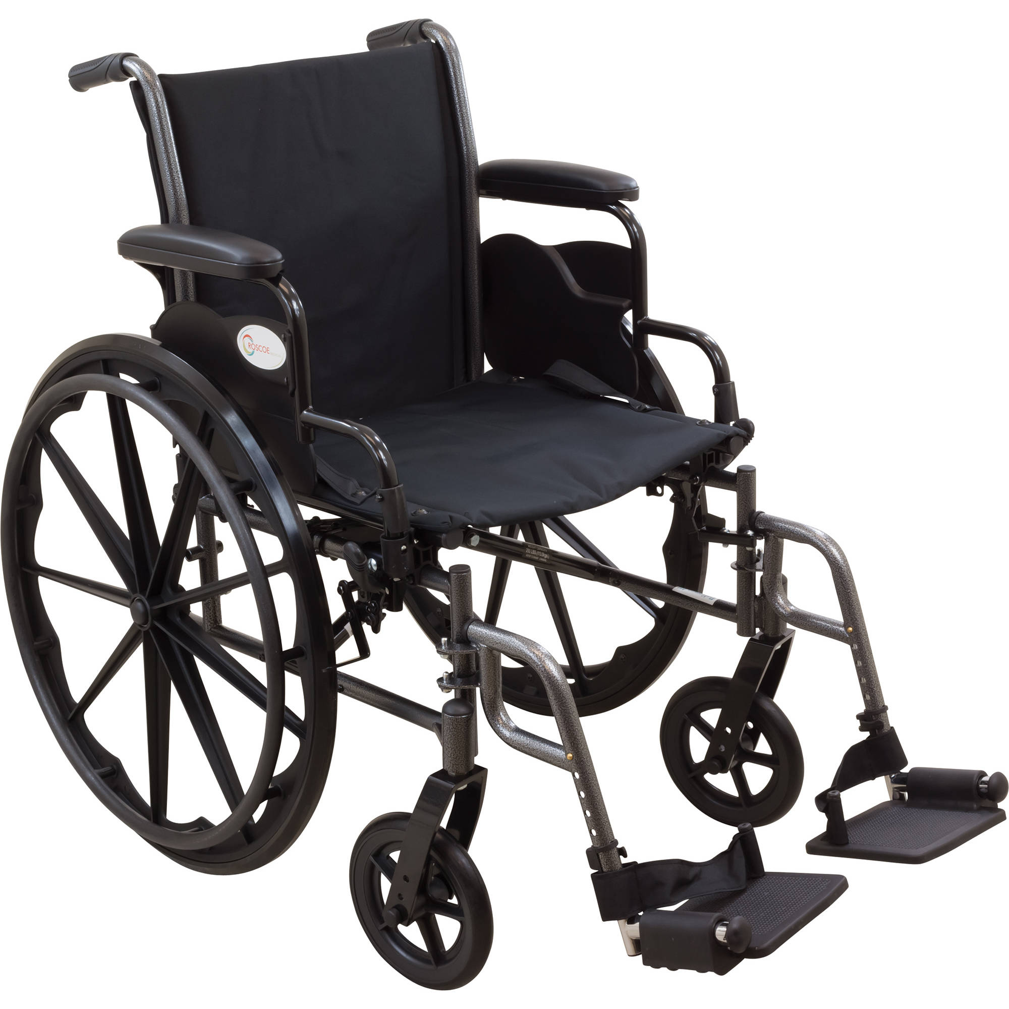 """Roscoe Reliance III Wheelchair, 20"""" Seat with Swing Away Footrests"""