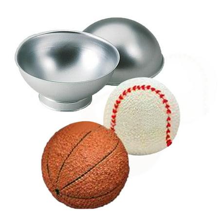Cake Tin Pan Set 3D Sports Ball Tennis Basketball Birthday Cake Pan Tin Mold](Halloween Cake Tins)