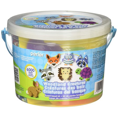 Fuse Bead Patterns (Woodland Creatures Fuse Bead Bucket Craft Activity Kit, 6006 pcs, Includes (6000) assorted Perler beads, (4) Perler pegboards, (1) Perler bead pattern sheet, and.., By)