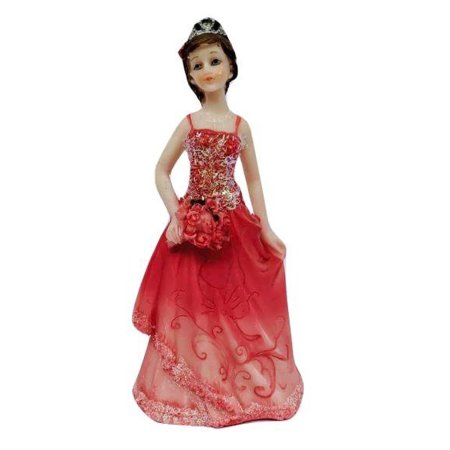 Sweet 16 Sixteen Mis Quince Anos Birthday Cake Top Fuchsia Girl Figurine Keepsake (Quince Anos Cake Top)