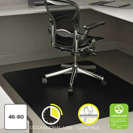 Deflecto EconoMat 46 x 60 Chair Mat for Low Pile Carpet, Rectangular, (60 Professional Chair Mat)