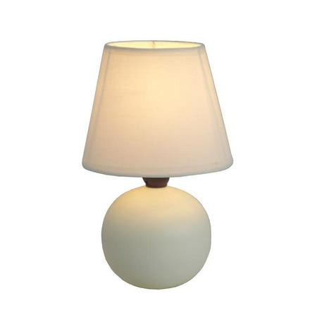 Luxury Home Mini White Ceramic Globe Table Lamp