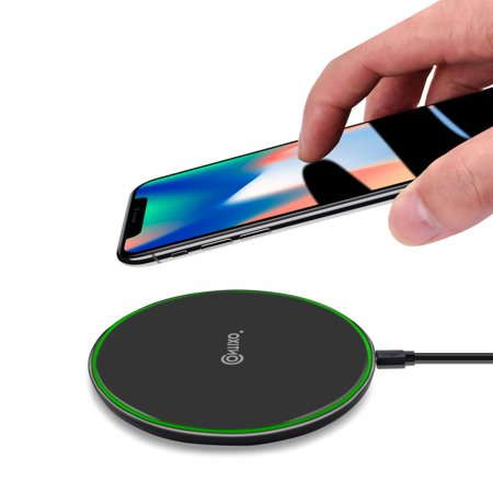 Contixo W2 Fast Wireless Charging Charger Pad | Ultra-Thin Slim Design for Qi Compatible Smartphones iPhone 8/8 Plus/X/XS/XS Max/XR Samsung Galaxy S9/S9 Plus/S8/S8 Plus/S7/Note (Anker Ultra Slim Qi Enabled Wireless Charging Pad)
