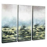 Gild Sea View V 3 Piece Original Painting on Canvas Set