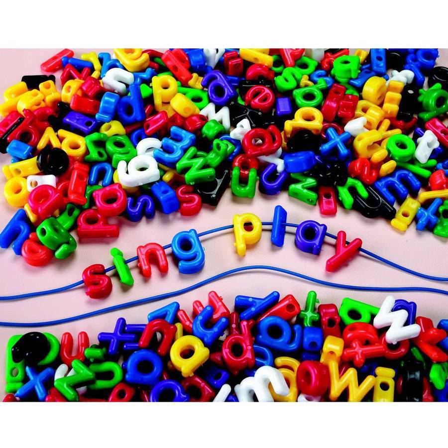 Roylco Lowercase Letter Beads for Stringing, Pack of 288