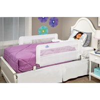 Regalo Swing Down Double Sided Bed Rail Guard, with Reinforced Anchor Safety System, Includes Two Rail's 43-Inch Long and 20-Inch Tall