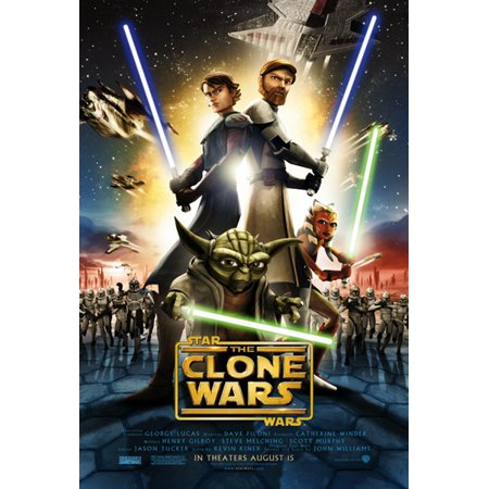 Clone Wars Movie Poster (Star Wars: The Clone Wars - Movie Poster / Print (Regular Style) (Size: 27