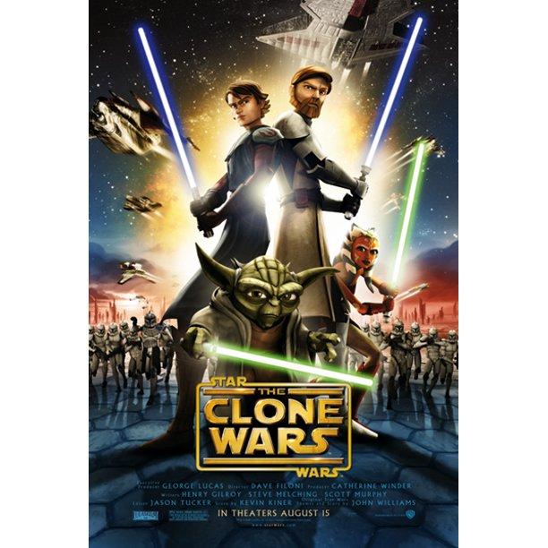 Star Wars The Clone Wars Movie Poster Print Regular Style Size 27 X 40 Walmart Com Walmart Com
