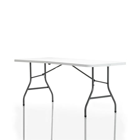 Cosco (2-Pack) 6 Foot Centerfold Folding Table, White