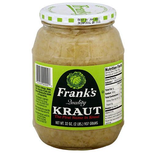 Frank's Kraut, 32 oz (Pack of 12)