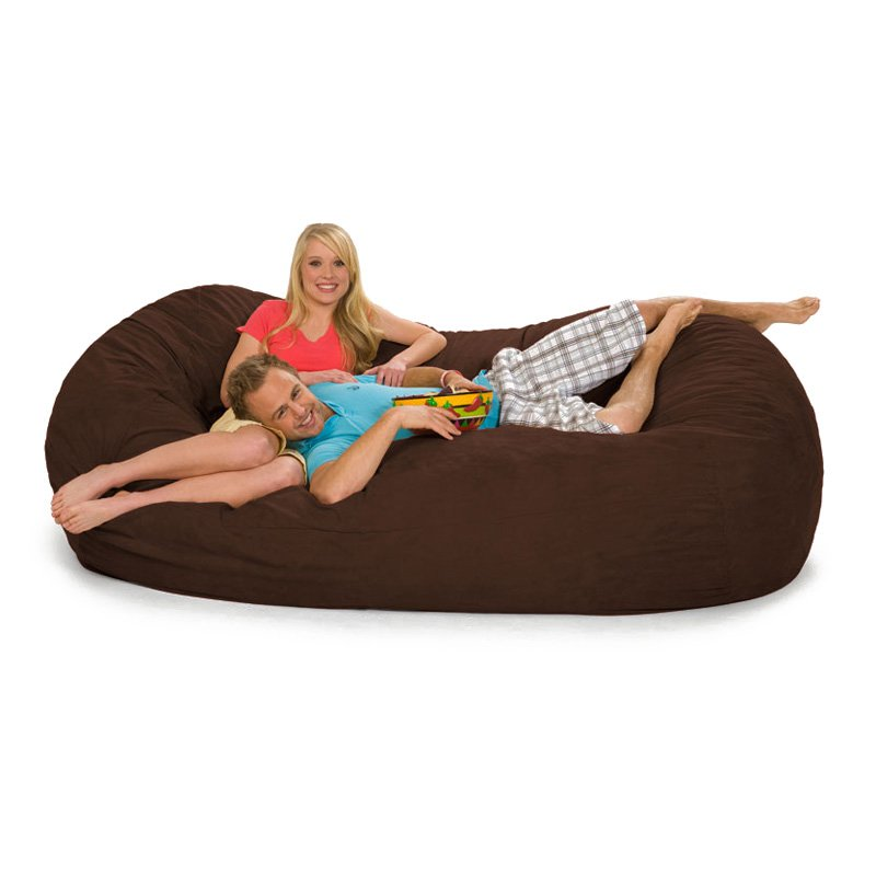 Relax Sack 7 ft. Microsuede Foam Bean Bag Lounger