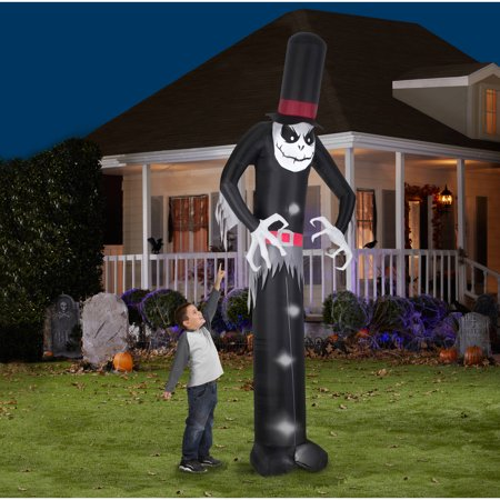 Gemmy airblown inflatable 12 39 x 4 39 giant skelton halloween for Airblown decoration