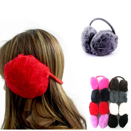Women's Faux Fur Ear Muffs Warmer Plush Band Earmuffs Earlap 8 Colors Winter