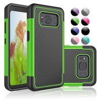 Galaxy S8 Active Case, S8 Active Case,S8 Active Sturdy Case, Njjex Rugged Rubber Double Layer Plastic Scratch Resistant Hard Case Cover For Samsung Galaxy S8 Active -Green