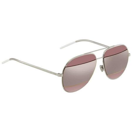 Dior Silver Pink Aviator Unisex Sunglasses DIORSPLIT1 2K4/0J (Dior Chicago Aviator Sunglasses)