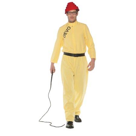 Devo Whip It Men's Adult Halloween Costume, One Size, (42-46) - Costume Whip