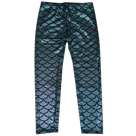 Simplicity child mermaid fish scale print full length for Fish scale walmart