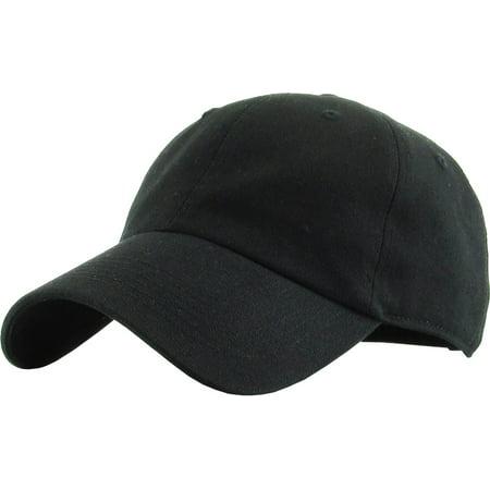 Junior Size Cotton Baseball Cap Adjustable Dad Hat Youth (Children's Baseball Caps)