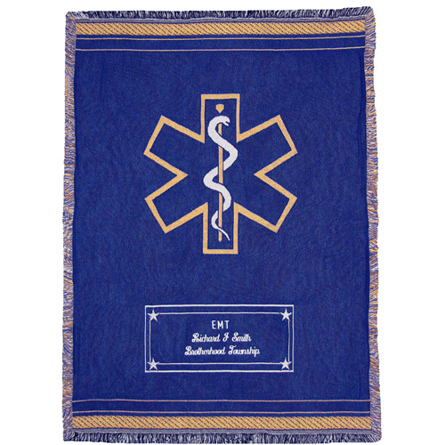 Personalized Heroes Throw, Emergency Services