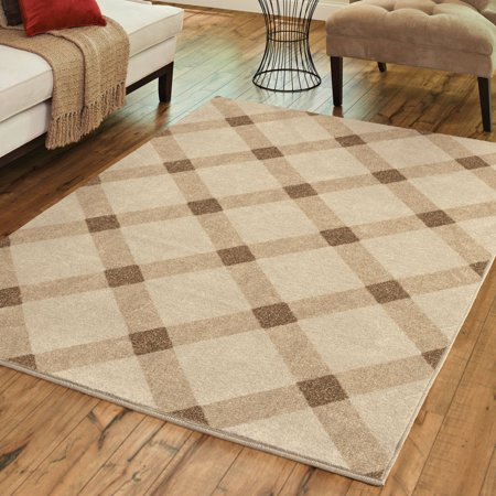 Better Homes and Gardens Diamond Gingham Area Rug and -