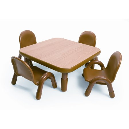 angeles square baseline toddler table and chair set in natural. Black Bedroom Furniture Sets. Home Design Ideas