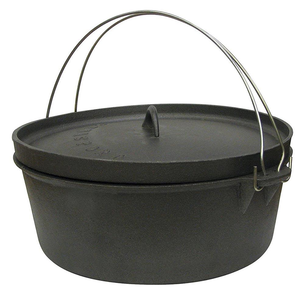 Stansport Cast Iron Dutch Oven 4 QT Without Legs by Generic
