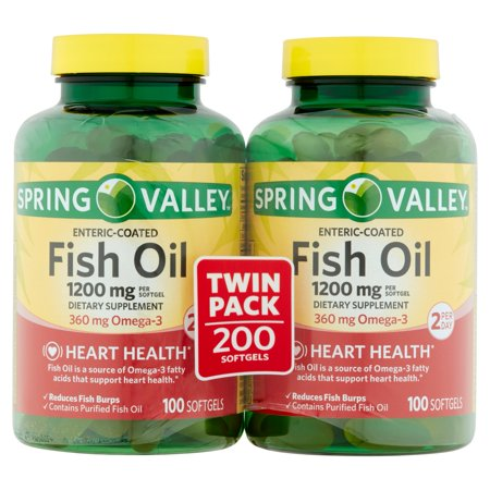 Upc 078742023458 Spring Valley Fish Oil 1200 Mg Strength