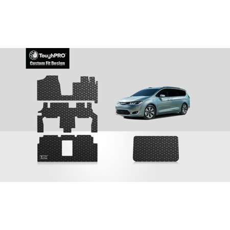 ToughPRO - CHRYSLER Town & Country Van Full Set with Cargo Mats - All Weather - Heavy Duty - Black Rubber - (2011 Chrysler Town And Country Cargo Space)