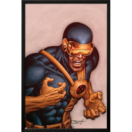X-Men Forever No.18 Cover: Cyclops Lamina Framed Poster Wall Art  By Tom Grummett - 26x38 ()