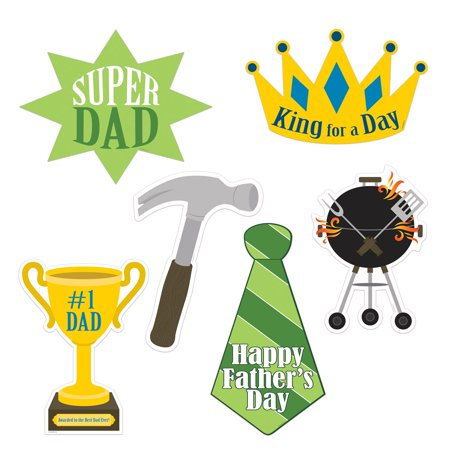 Beistle Father's Day Decoration Super Dad Kit 6pc Assorted Cutouts - Fathers Day Decorations
