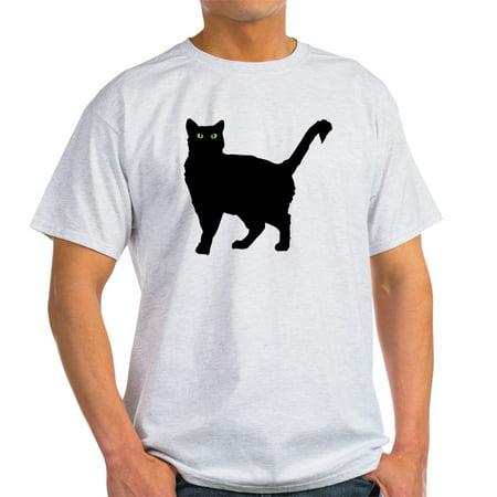 CafePress - Black Cat Silhouette - Light T-Shirt - CP