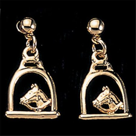 Exselle 122630 Stirrup with Horse Head Earrings Gold (Gold Stirrup)