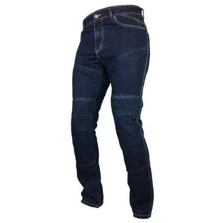 Fashio Mens Protective Lined Motorcycle Biker Stylish Jeans Denim Pants ()