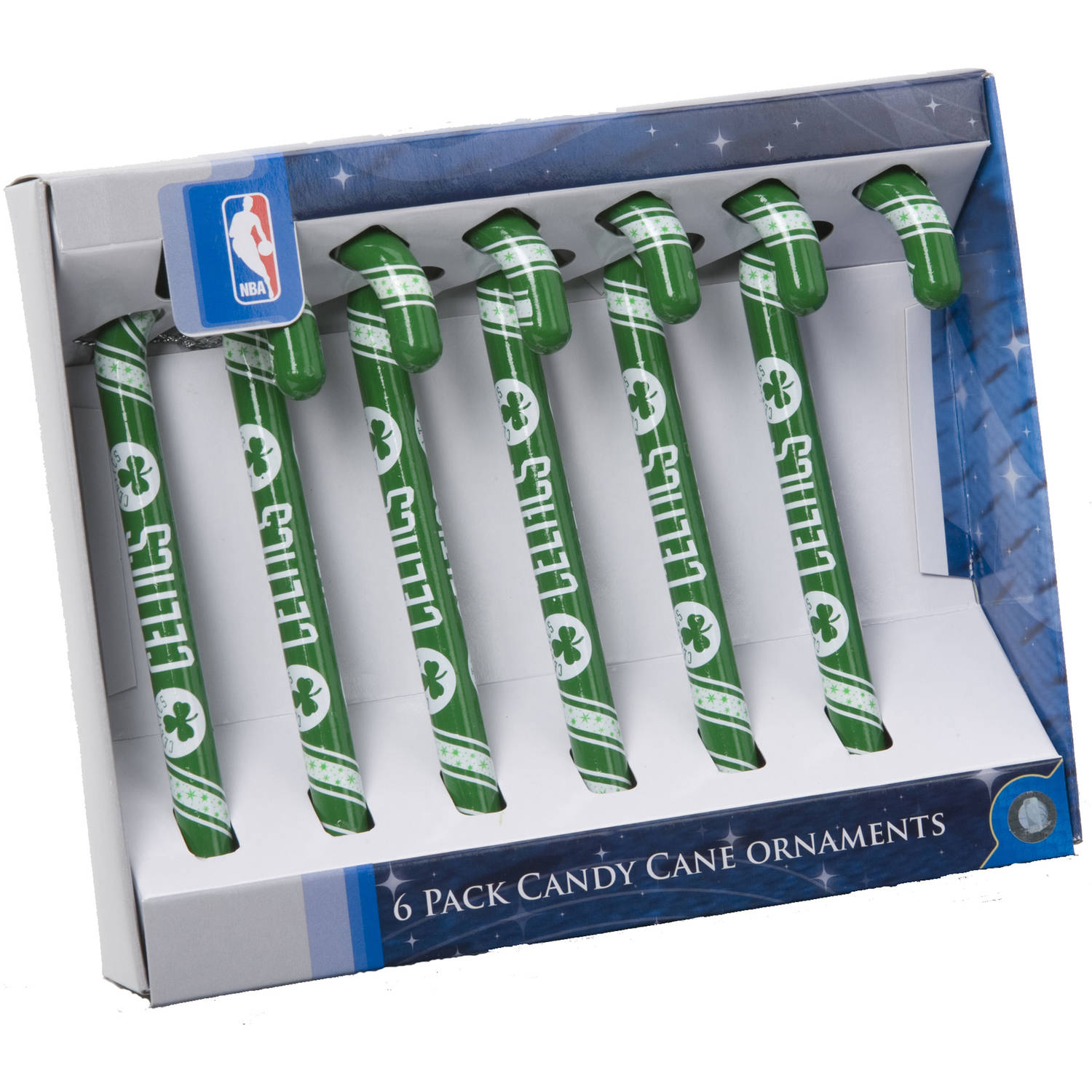 FOREVER COLLECTIBLES 6 PACK CANDY CANE STYLE ORNAMENTS NOT CANDY