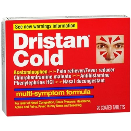 Dristan Cold Tablets Multi Symptom 20 Tablets  Pack Of 3