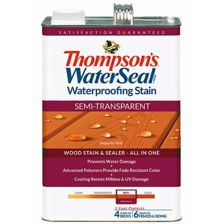Thompsons WaterSeal Semi-Transparent Waterproofing Stain SEQUOIA RED