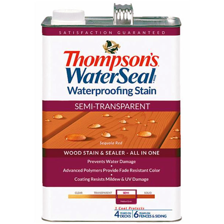 Thompsons WaterSeal Semi-Transparent Waterproofing Stain SEQUOIA RED gal