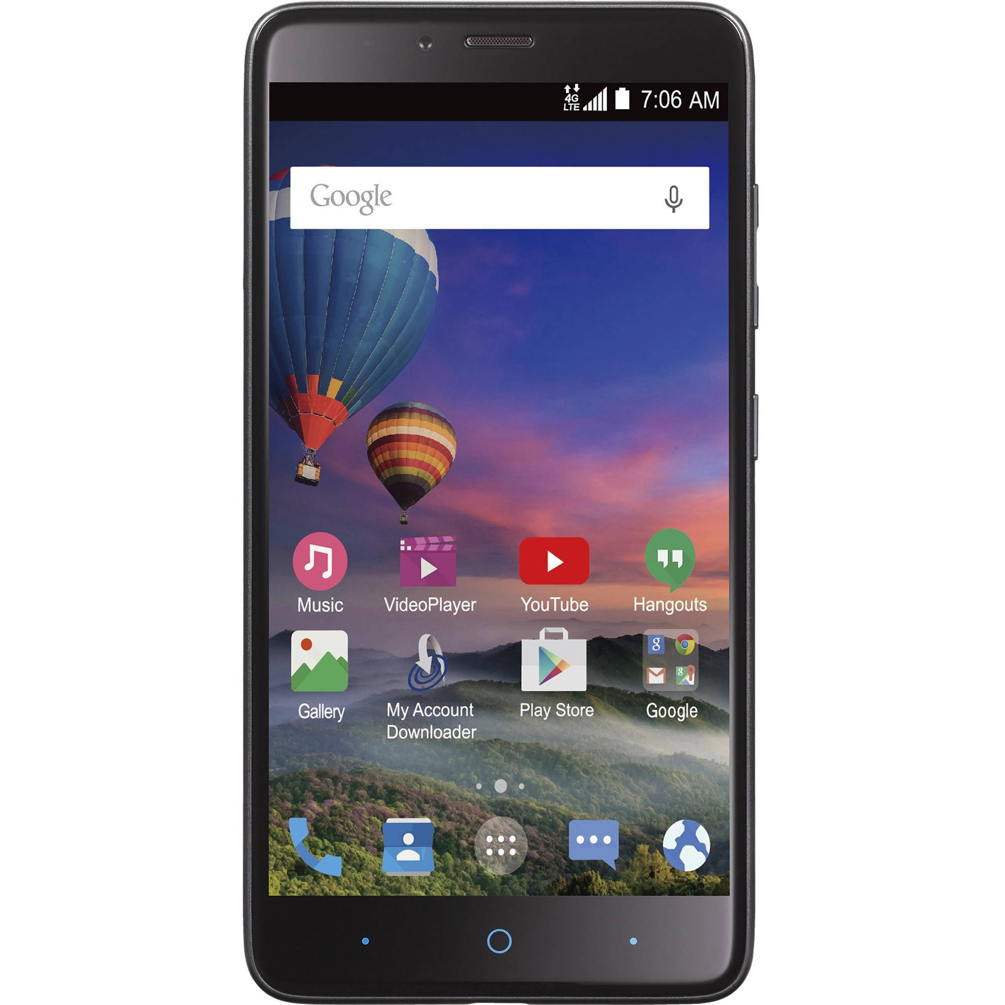 Straight Talk ZTE MAX DUO 4G LTE GSM Prepaid Smartphone