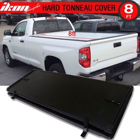 Tundra Tonneau Cover >> Fits 14 17 Toyota Tundra Lock Tri Fold Hard Solid Tonneau Cover 8ft 96in Bed