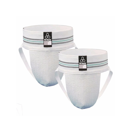 McDavid Classic Logo 3110-CL Athletic Supporter, 2-Pack Adult White  Large for $<!---->