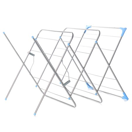 3-Tier Folding Clothes Drying Airer Rack Indoor Outdoor Laundry Dryer Concertina - image 9 de 12