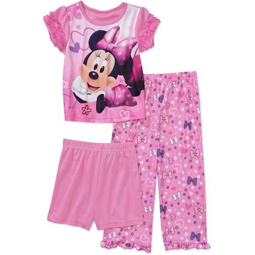 Disney Baby Girls' Minnie Mouse 3-Piece Pajama Set