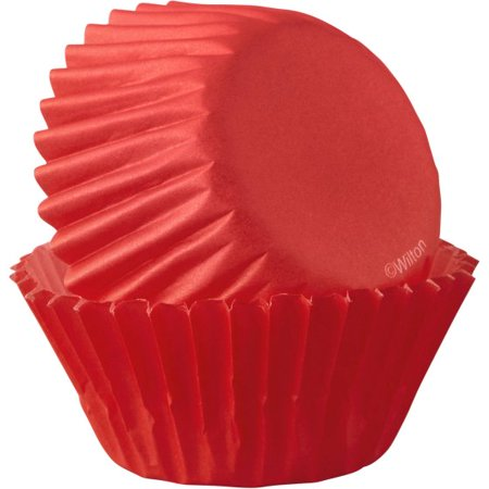 (5 Pack) Wilton Red Mini Cupcake Liners 50-Count, 415-4743 (Mini Cupcake Recipes For Halloween)