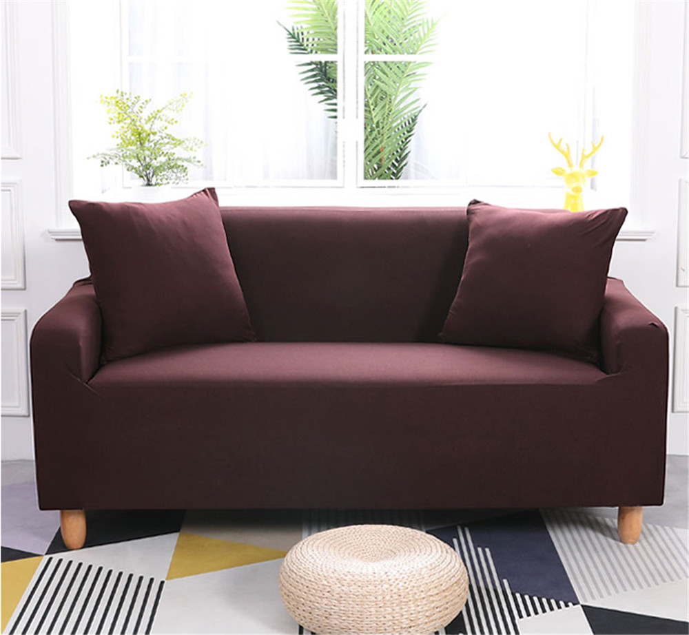 Lv.life Sofa Couch Covers Fabric Settee Protector Slipcover Washable Two Seater coffee 145~185cm
