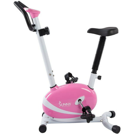 Pink Magnetic Upright Bike Exercise Bike W  Lcd Monitor By Sunny Health   Fitness   P8200