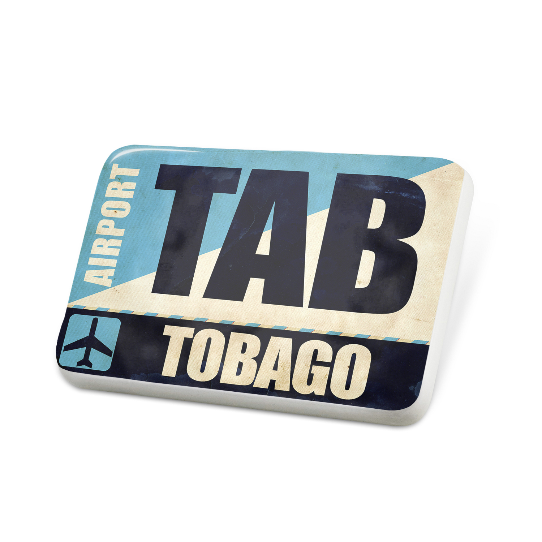 Porcelein Pin Airportcode TAB Tobago Lapel Badge – NEONBLOND