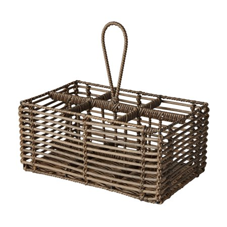 Better Homes & Gardens Woven Rattan Utensil Caddy with Handle