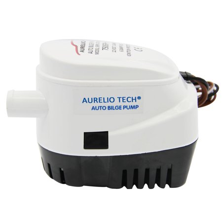 AURELIO TECH  12V Automatic Submersible Boat Bilge Water Pump 750GPH Auto With Float