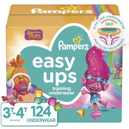 Pampers Easy Ups Girls Training Pants OMG Pack 3T-4T (124ct)