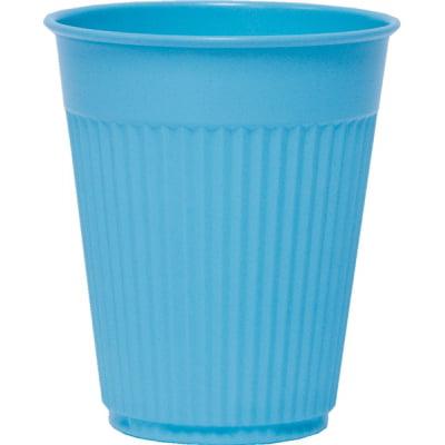 Plastic Medical & Dental Cups, Fluted, Blue, 5oz SCCPCF5B